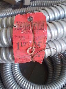 "Anamet Reduced Wall Steel Flexible Metal Conduit, 25' ft coil, 1 1/2"""