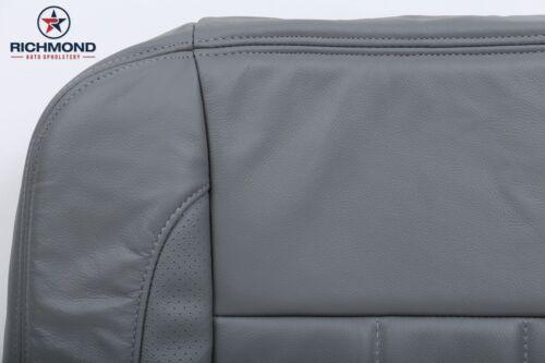 2006 Dodge Ram 4500 5500 Laramie Driver Side Bottom Leather Seat Cover Gray