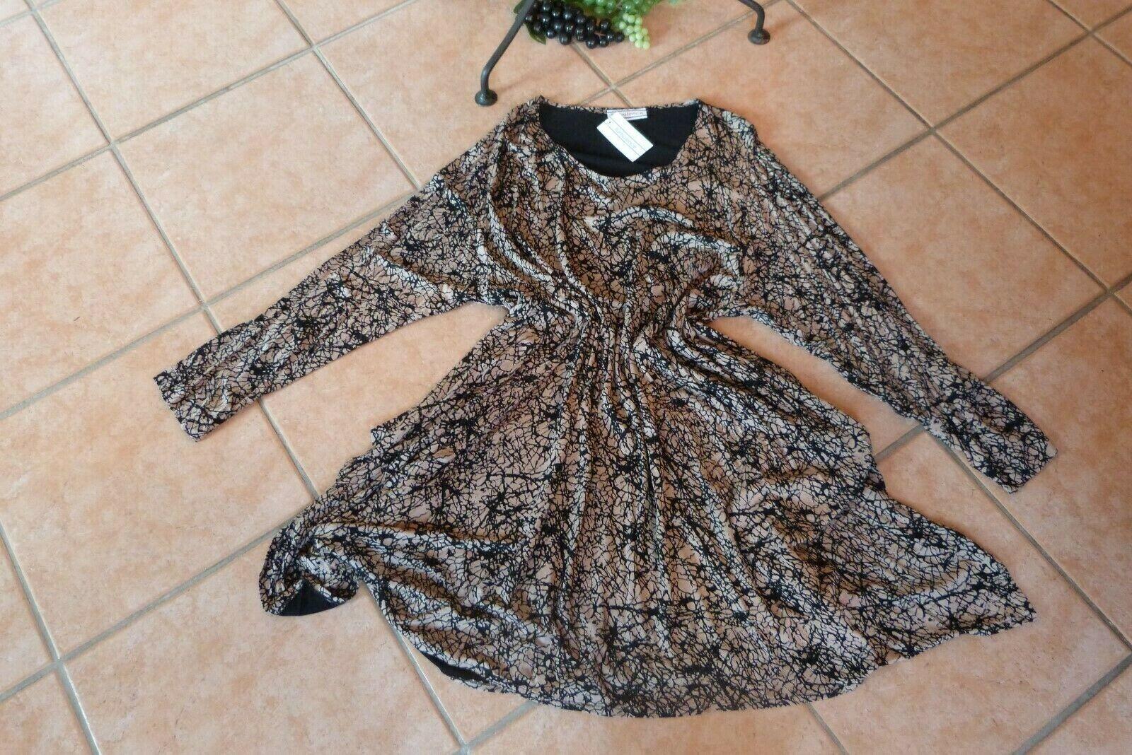 Damen Longtunika Lagenlook Tunika Zipfel A-Linie Print Übergroße 48 50 52 Italy