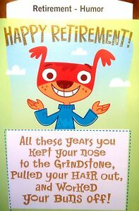 Hallmark funny retirement goodbye work retire greeting card 9 image is loading hallmark funny retirement goodbye work retire greeting card m4hsunfo