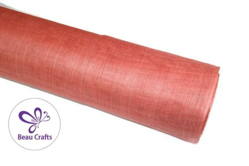 Sinamay tissu pour Millinery Hat Making raidie corail Sinamay tissu