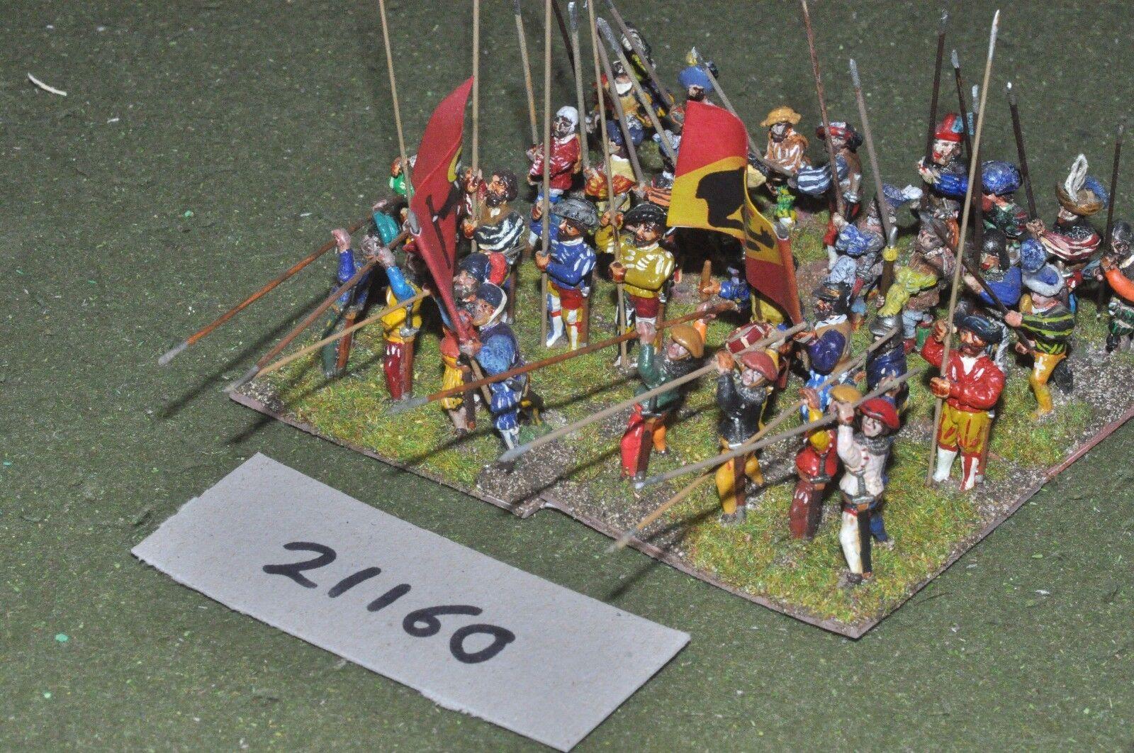 25mm renaissance   generic - infantry 32 figures - inf (21160)
