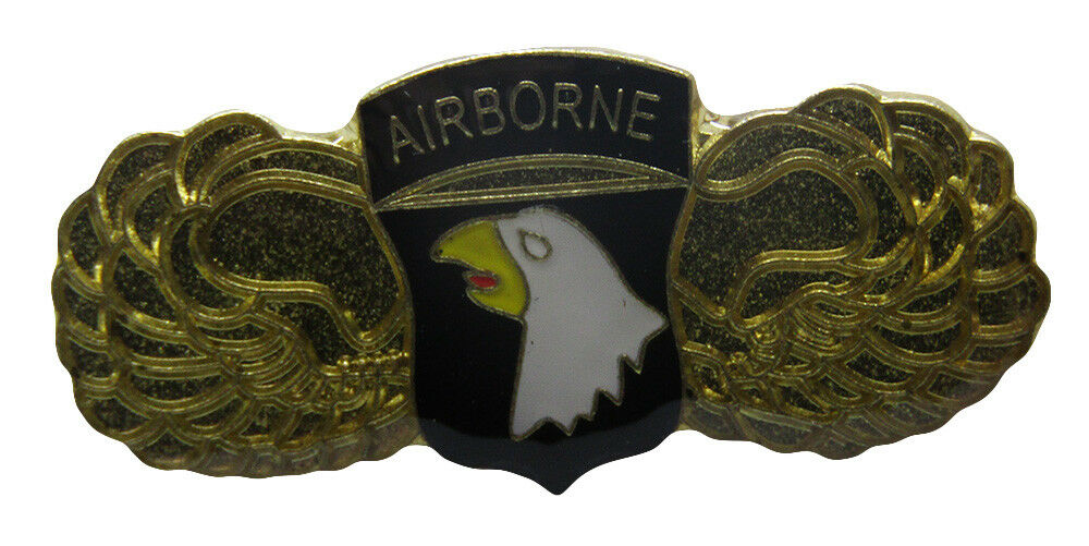 Pack of 50 101st Airborne schwarz With Wings Military Hat Cap lapel Pin