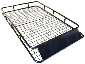 Universal-Roof-Basket-Steel-Cargo-Luggage-Tray-Folding-Carrier-Rack-1-6M-X-1M