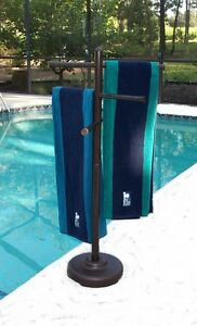Image Is Loading Outdoor Portable Towel Holder Rack Pool Patio Spa