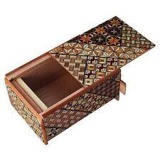 Traditional Japanese Hakone Yosegi Wooden Secret Puzzle Trick Box 7 Steps