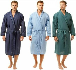 Lounge Dressing Robe Navy Blue NEW Joe Boxer Men/'s Easy Care Cotton Bath Robe