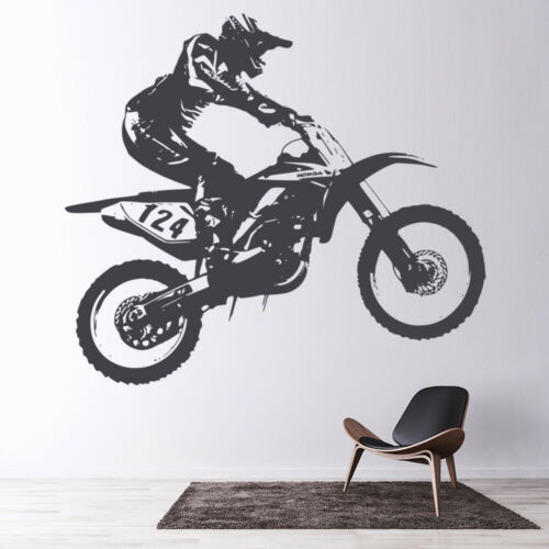 Dirt Bike Motocross Motorbike Wall Decal Sticker WS-18684