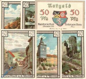 Notgeld-Treffurt-Set-mit-6-Scheinen-in-kfr-Mehl-Grabowski-1338-2-von-1921