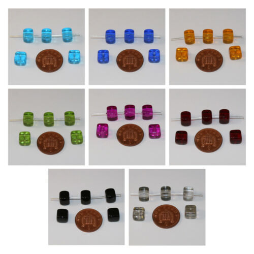 Czech Glass Cube Beads; Size 9 x 8mm 12 Blue//Golden /& more!