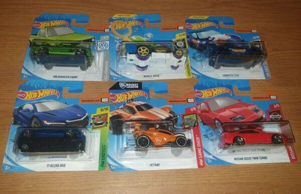 6 X Hot Wheels Auto Bundle: Bubble Matic, Corvette, Octane, Volkswagen Caddy Con Le Attrezzature E Le Tecniche Più Aggiornate