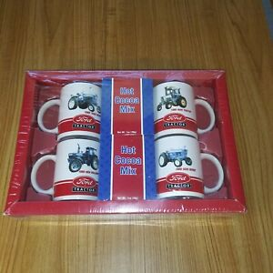 FORD TRACTOR COLLECTOR COFFEE COCOA MUG SET 4 SERIES~5000, 7000, 8730 9600 NEW