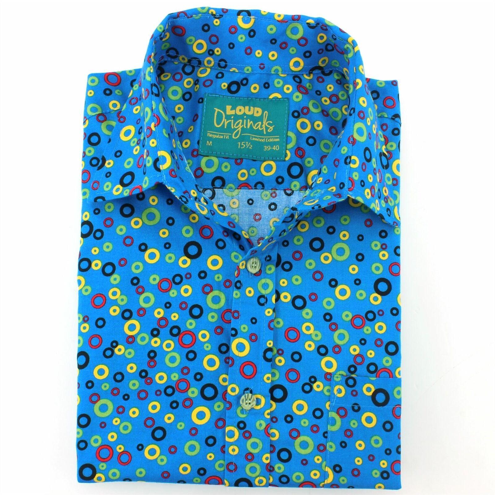 Herren Shirt Loud Loud Loud Originals Regular Fit Geometrisch Blau Retro Psychedelic Fancy | Wir haben von unseren Kunden Lob erhalten.  ecee18