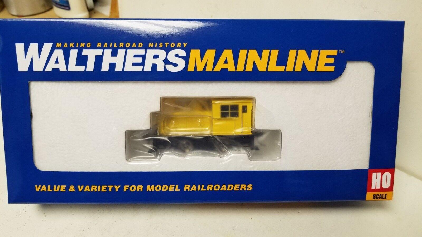 Undekorierten Eisenbahnlinie Plymouth Ml-8 Umschalter Gelb Streifen Walthers    Neuheit