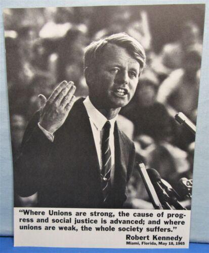 Robert Kennedy President ~ AFL-CIO Union Campaign Flyer