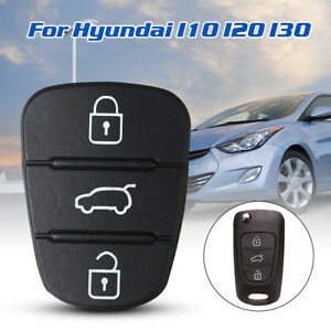 3 Button Replacement Remote Key Fob Rubber Pad For Hyundai I10 I20