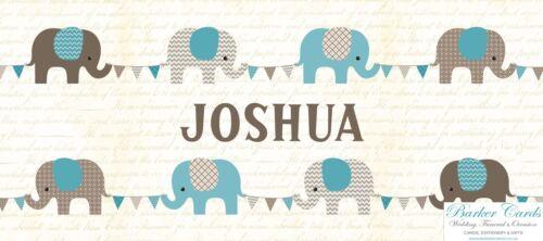 Grey Elephants And Bunting Baby
