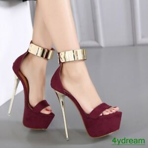 Womens-Platform-Ankle-Strap-Stiletto-High-Heels-Sandals-Open-Toe-Party-Shoes