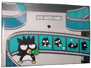 Flat Kawaii Japan New F//S Ivory Bad Badtz-Maru Sanrio Pouch M Inner pocket