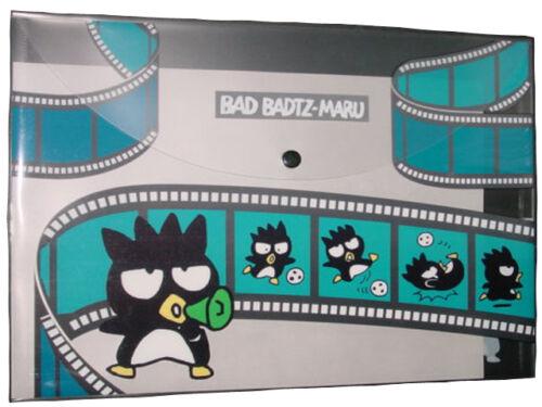 """NIB SANRIO BAD BADTZ MARU XO A4 SIZE CLEAR FILE FOLDER W 13/"""" x L 9.5/"""""""