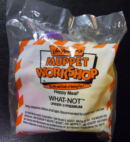 VINTAGE 1995 McDonald/'s Happy Meal Muppet Workshop Under 3 Toy-What-Not
