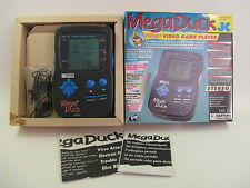 Mega Duck Console System COMPLETE 4 Complete Games 1993 Germany Cougar Boy OVP