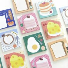 Lot 8 Korean Stationery Food Dessert Cake Egg Notepad Cute Kawaii Memo Pad Notes