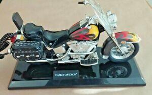 Harley-Davidson-Heritage-Motorcycle-Telephone-Novelty-Phone-Softail-Flame