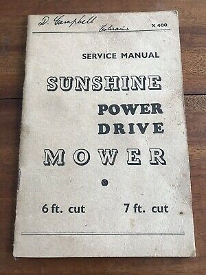 Manuals Forceful Sunshine Harvester Tractor Manual ~ Sunshine Mower Service Manual Up-To-Date Styling Industrial