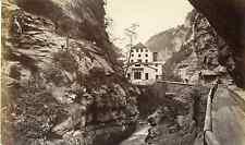 Suisse, canton des Grisons  Vintage albumen print Tirage albuminé  12x22