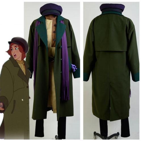 1997 Anastasia Romanov Anya Cosplay Costume Suit Uniform Coat Attire Outfit Gown