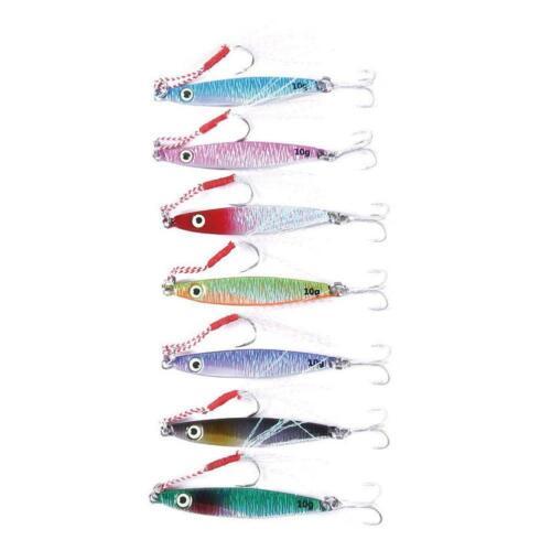 7PCS Lot Long Shot Jigs Fishing Lures Metal Baits Iron Lead Jig Tackle 7cm//21g
