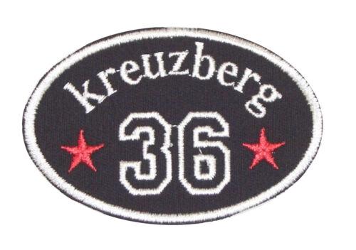 "Patch Aufnäher Aufnäher /"" KREUZBERG 36 /"" BERLIN BEZIRK"