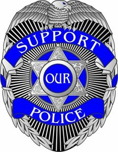 Thin Blue Line Decal - Support our Police Blue Line badge ...