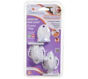 Dreambaby Adhesive Magnetic Lock - 2 Locks & 1 Key