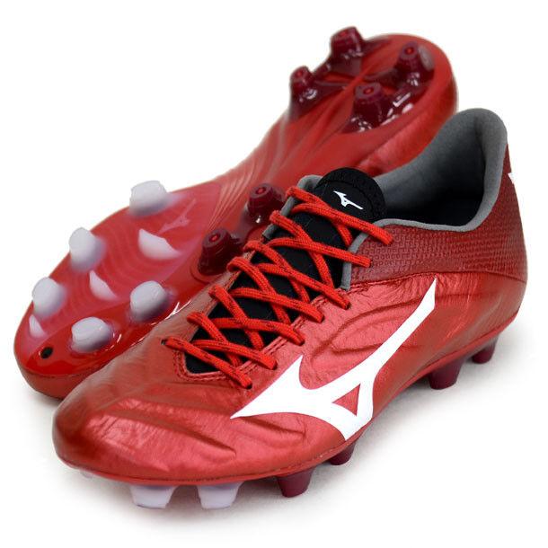 Mizuno Rebula 2 V1 hecha en Japón Fútbol Fútbol Zapatos Canguro P1GA1870 Rojo