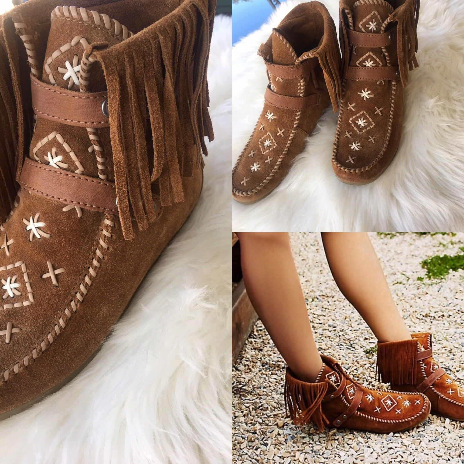 Sam edelman brown leather Khaterine  booties Zs 6
