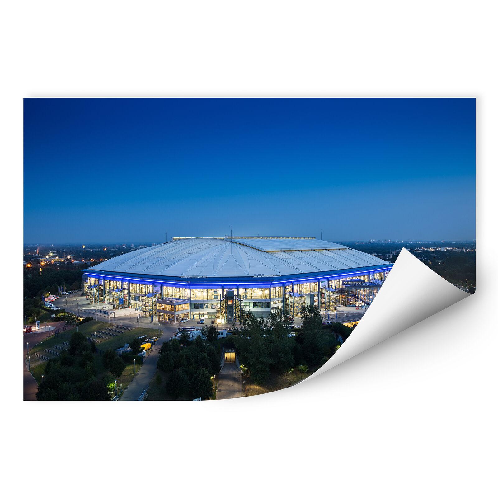 Wandbild Wallprint W - Schalke Arena 02 blau Fanartikel Fanshop Fanshop Fanshop Wanddeko Deko 253014