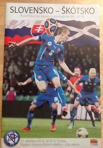 Image is loading Slovakia-V-Scotland-11-Oct-16-Match-Programme