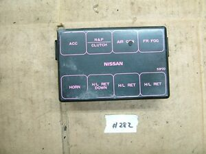 nissan 240sx s13 engine bay fuse box cover 89 90 91 92 93 94 image is loading nissan 240sx s13 engine bay fuse box cover
