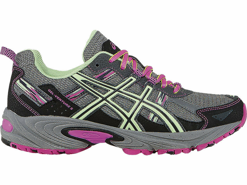 Asics GEL-VENTURE 5 Glow T5N8N Damens Titanium Pistachio Pink Glow 5 Sneaker NEW Größes 4c2396