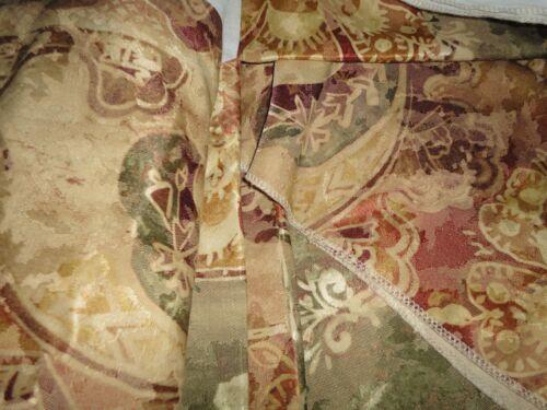VINTAGE BURLINGTON NORMANDY GOLD CALIFORNIA KING KING OR QUEEN BEDSKIRT TUSCAN