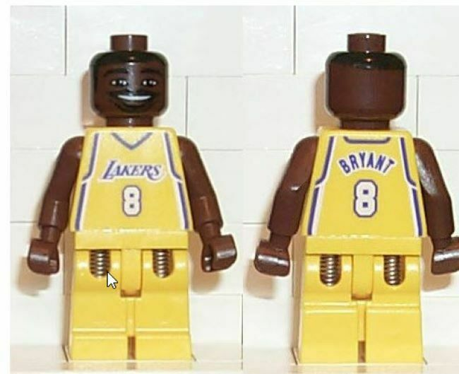 2003 Lego Kobe Bryant Minifigure Gelb Lakers  with card and stand