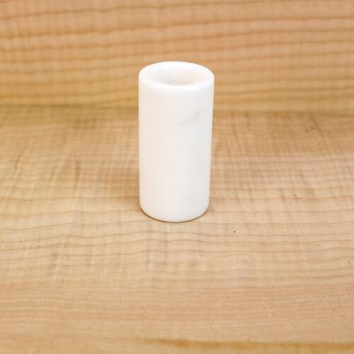 """Imperial Valley Polished White Jade Stone Guitar Slide /""""Tone From The Stone/"""""""