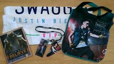 Justin Bieber Believe VIP swag program lanyard towel tote bag Tour Laminates
