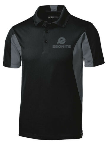 Ebonite Men/'s Champion Performance Polo Bowling Shirt Dri-Fit Black Graphite