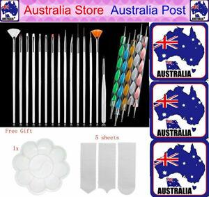 20pcs Nail Art Design Brushes Dotting Pen Tool Set Painting UV Gel Drawing Brush