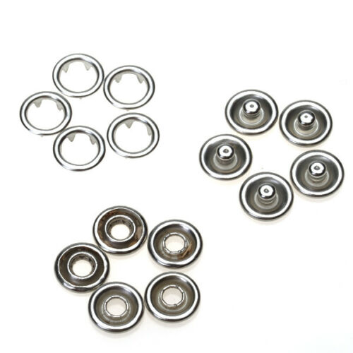 50 Sets Nickel Open Ring Press Studs Snaps Popper Fasteners Wholesale