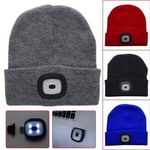 4LED Inverno Maglia Cappello da Pesca USB Torcia Campeggio Unisex ... 6e95759df6aa