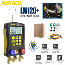 Autool Refrigerantion Digital Manifold Meter Hvac Gauge Pressure Temperature Kit